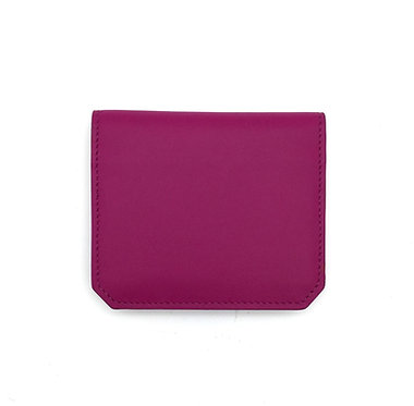 """Thursday"" card wallet - Soft leather rose fuchsia"