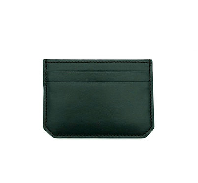 """""""Weekend"""" mini card wallet - Soft leather pine green"""