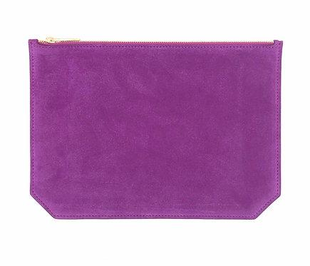 """Monday"" pouch - Suede violet"