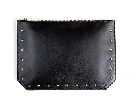 """""""Everyday"""" pouch - Soft leather black"""