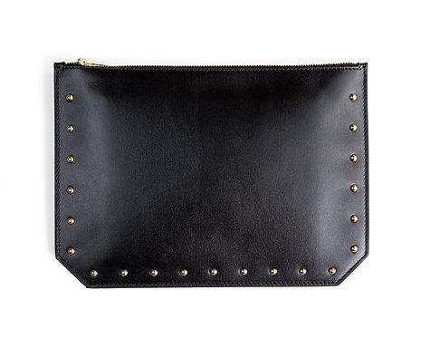 """Everyday"" clutch - Soft leather black"