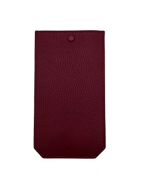 """""""Wednesday"""" glasses case - Grain leather wine red"""