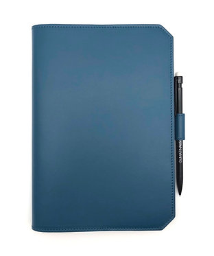 """""""Morning"""" notebook - Soft leather petrol blue"""