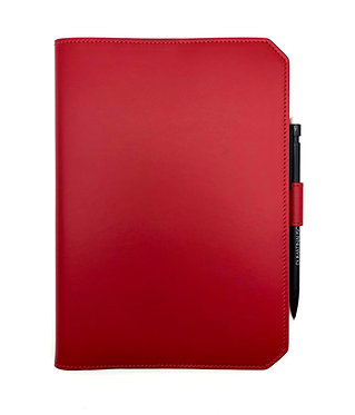 """""""Morning"""" notebook - Soft leather lipstick red"""