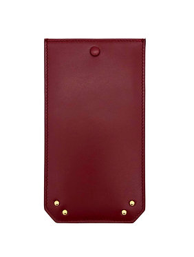 """Afternoon"" glasses case - Soft leather wine red"