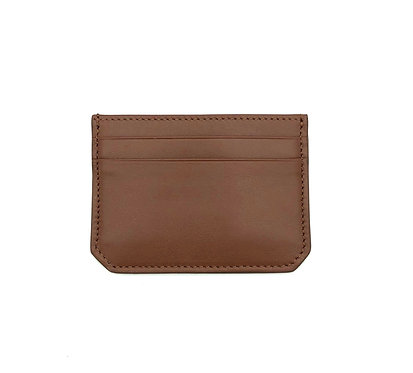 """""""Weekend"""" mini card wallet - Soft leather chocolate brown"""