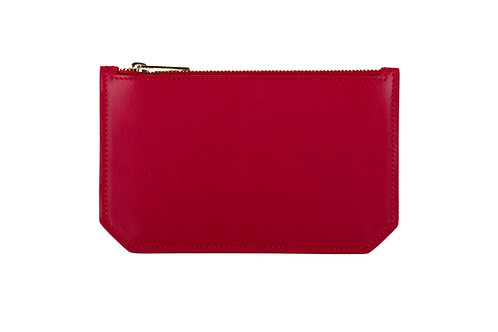"""""""Tuesday"""" purse - Soft leather lipstick red"""