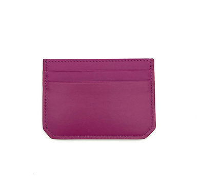 """Weekend"" mini card wallet - Soft leather rose fuchsia"