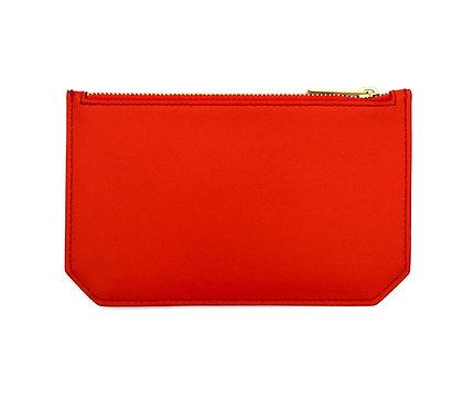 """Tuesday"" purse - Soft leather sapphire orange"
