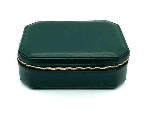 """Sunday"" big jewel box - Soft leather pine green"
