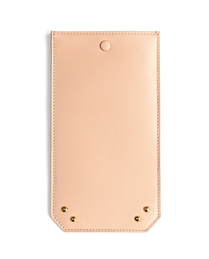 """""""Afternoon"""" glasses case - Soft leather nude"""