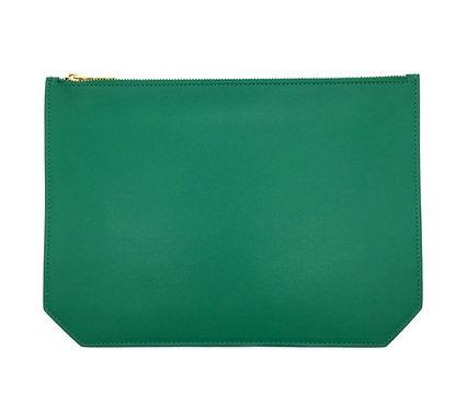 """Monday"" pouch - Soft leather mint"