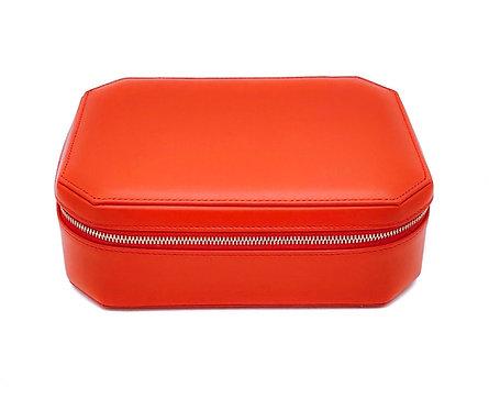 """""""Sunday"""" big jewel box - Soft leather sapphire orange"""