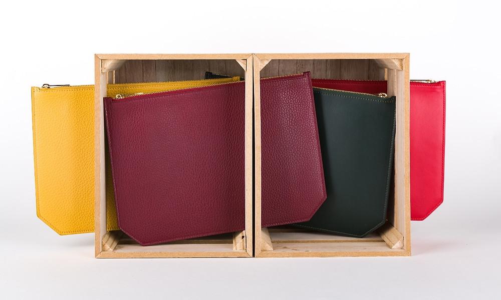 belle pochette en cuir fabrication italienne