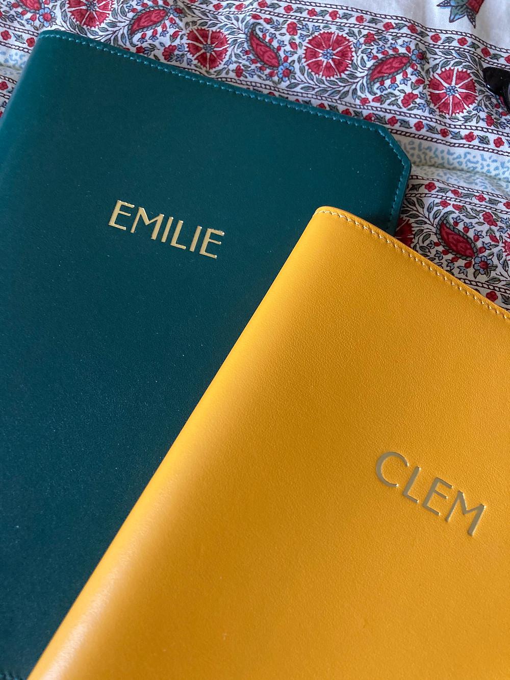 Carnet de notes personnalises Prenom Emilie Surnom Clem
