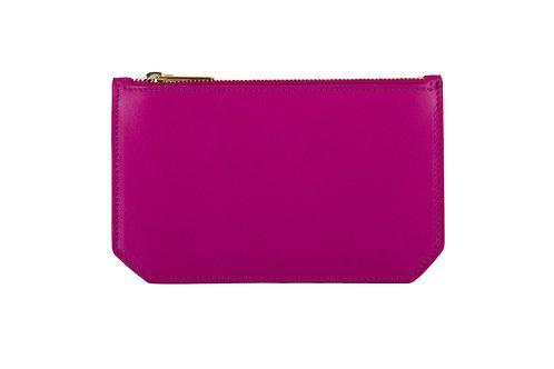 """""""Tuesday"""" purse - Soft leather rose fuchsia"""
