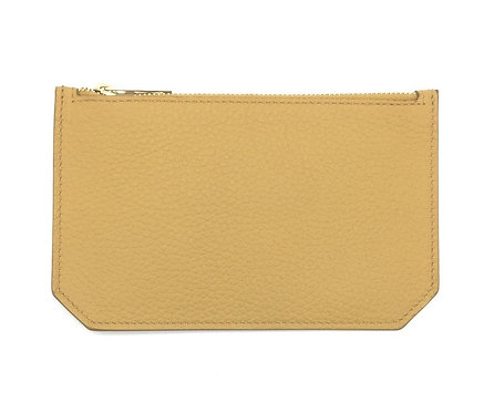"""Tuesday"" purse - Grain leather sandy yellow"