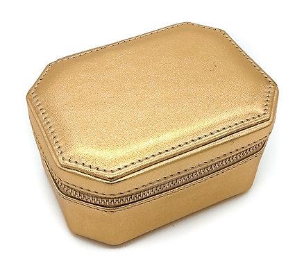 """Friday"" Woman jewel box - Soft leather metallic gold"