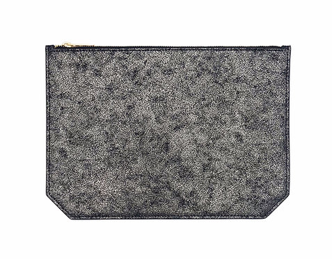 """Monday"" clutch - Suede sparkly black"
