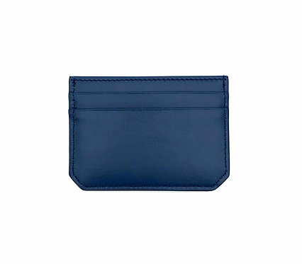 """Weekend"" mini card wallet - Soft leather denim blue"
