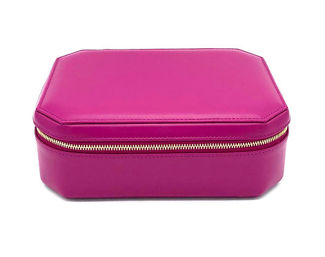 """Sunday"" big jewel box - Soft leather rose fuchsia"