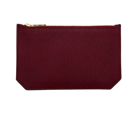 """Tuesday"" purse - Grain leather wine red"