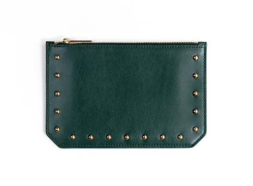 """Tomorrow"" purse - Soft leather pine green"