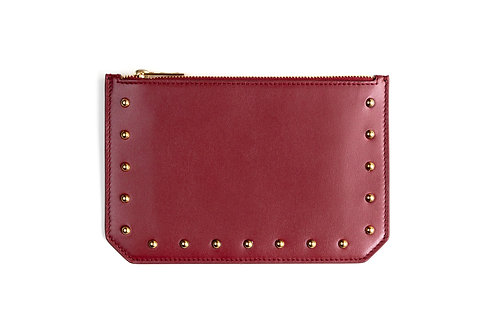 """""""Tomorrow"""" purse - Soft leather wine red"""