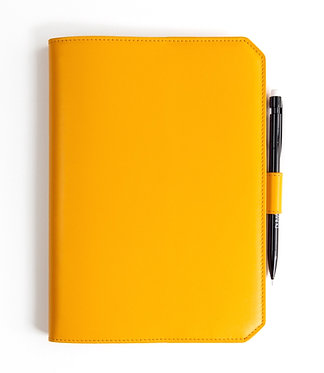 """Morning"" notebook - Soft leather curry yellow"