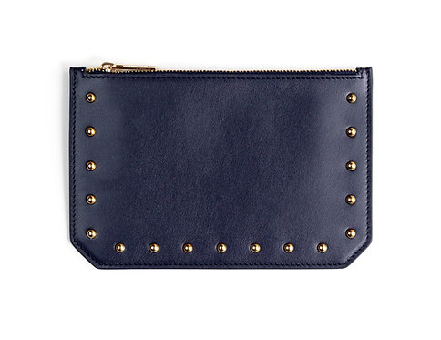 """Tomorrow"" purse - Soft leather navy blue"