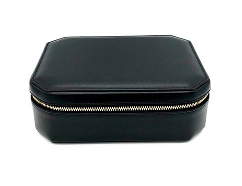 """Sunday"" big jewel box - Soft leather black"