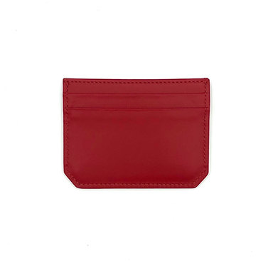 """""""Weekend"""" mini card wallet - Soft leather lipstick red"""