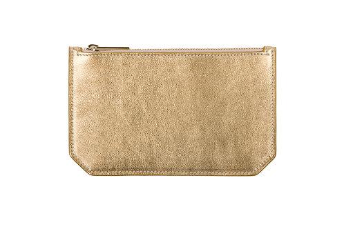 """Tuesday"" purse - Metallic leather gold"