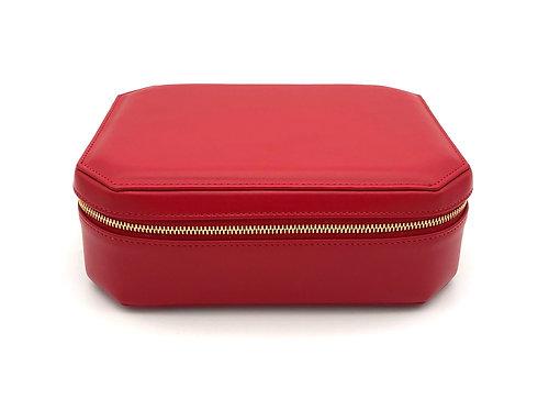 """""""Sunday"""" big jewel box - Soft leather lipstick red"""