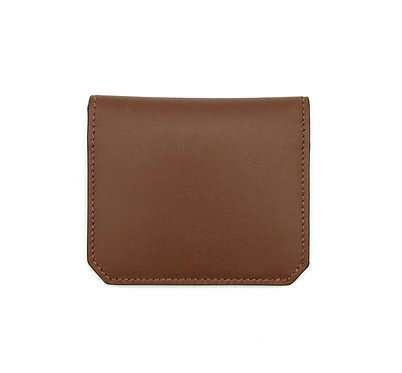 """Thursday"" card wallet - Soft leather chocolate brown"
