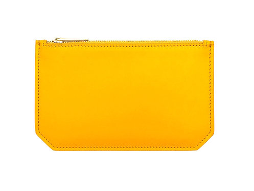 """""""Tuesday"""" purse - Soft leather curry yellow"""