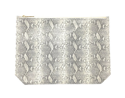 """""""Monday"""" clutch - Python printed leather"""