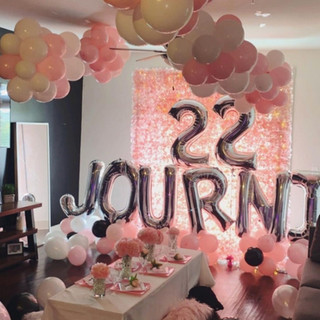 Balloon Decorations for Slumber Party
