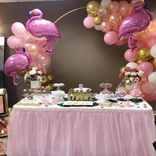 Flamingo Themed 1st Birthday Party