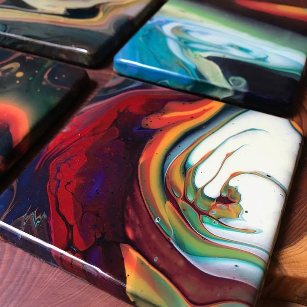 colourful coasters