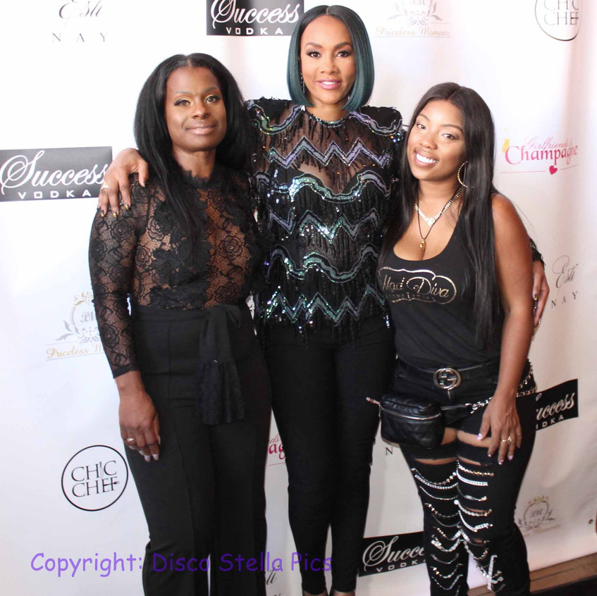 Vivica Fox with PR and Guest