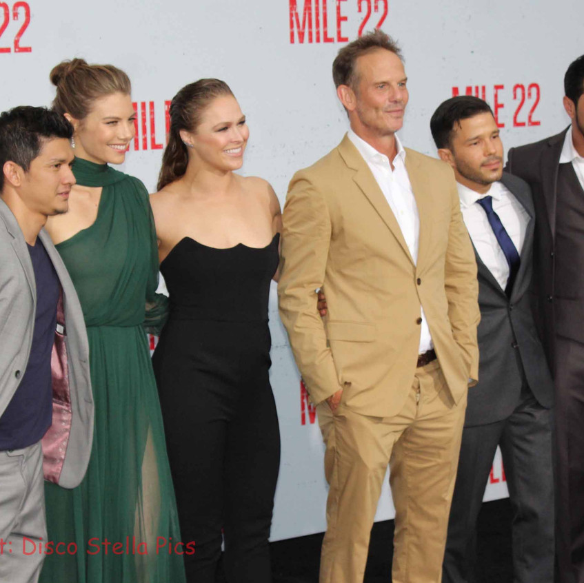 Some of the Cast of Mile 22