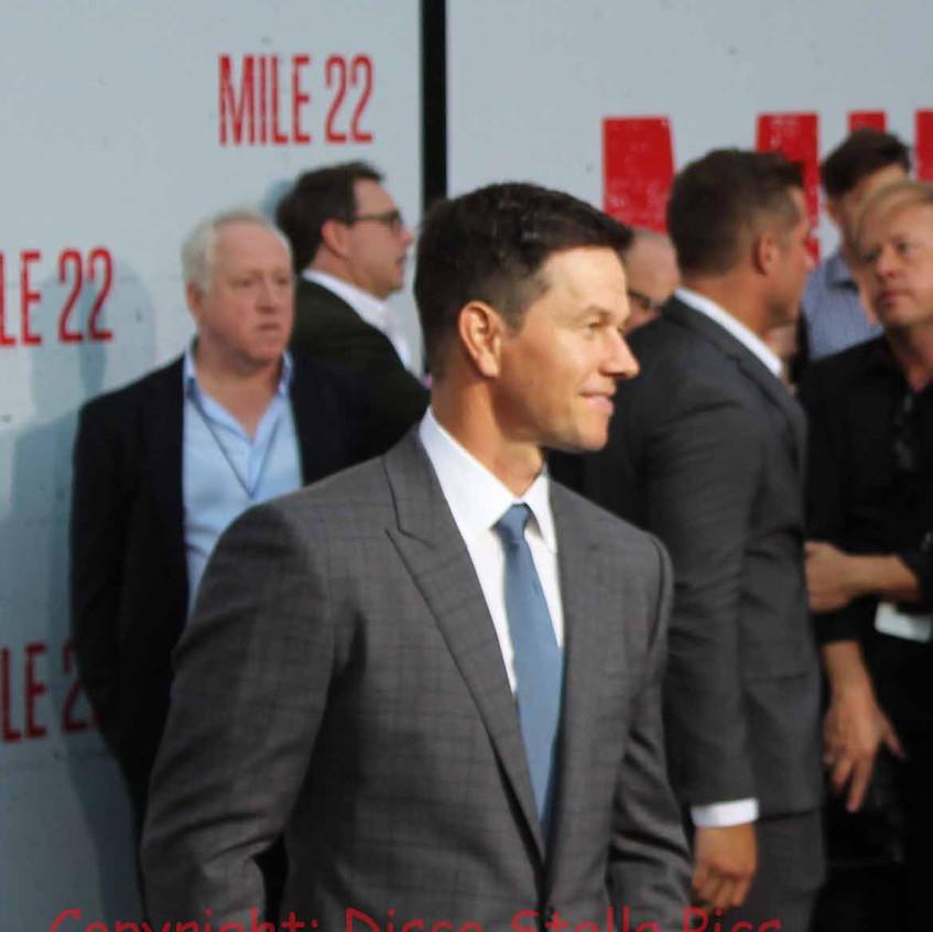 Mark Wahlberg arriving on the carpet