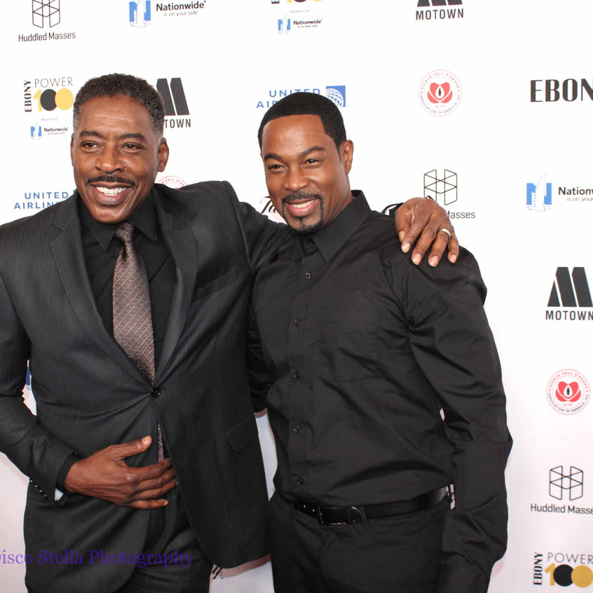 Ernie Hudson with Guest - on the carpet.