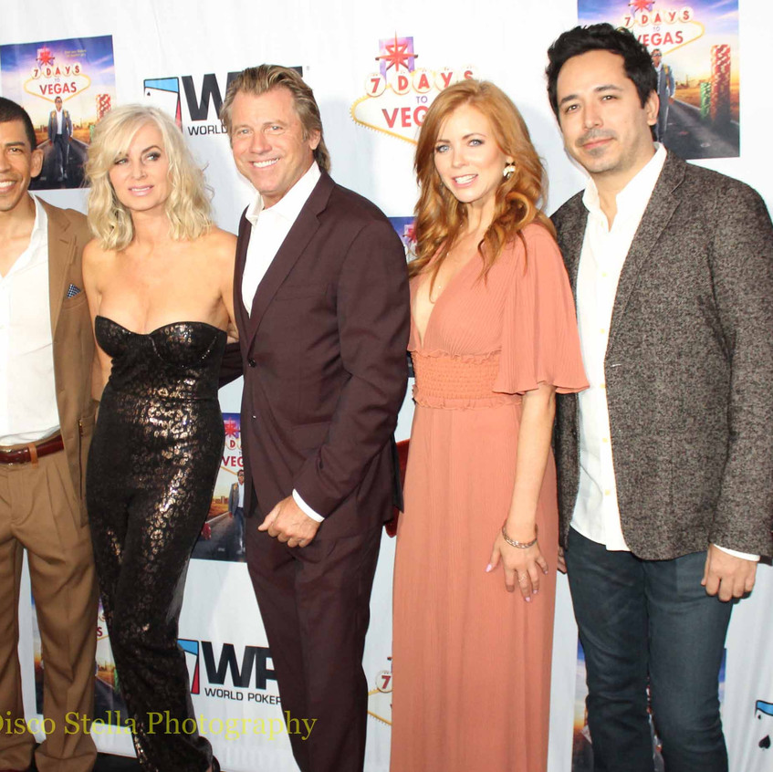 Vince Van Patten with casts - Poker Play