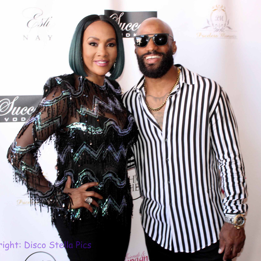 Vivica Fox with NFL Player guest