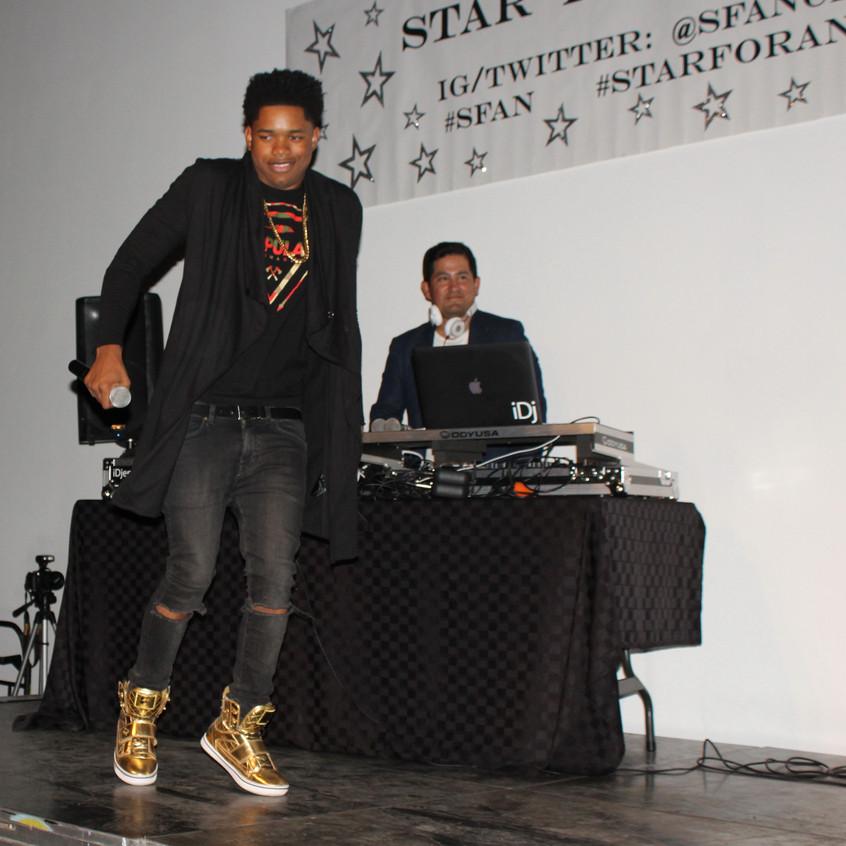 Nathan Davis Jr-Singing on Stage
