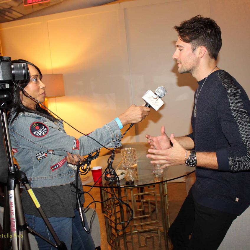 James Maslow being interviewed