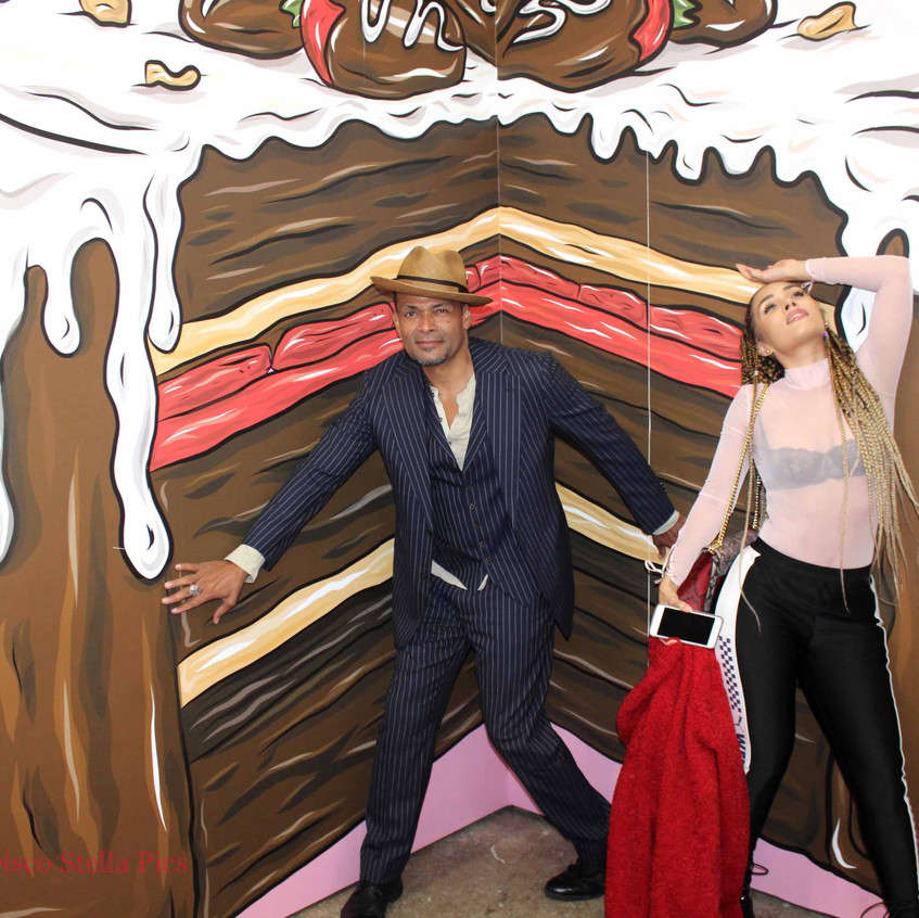 Mario Van Peebles with friend - Cake pop