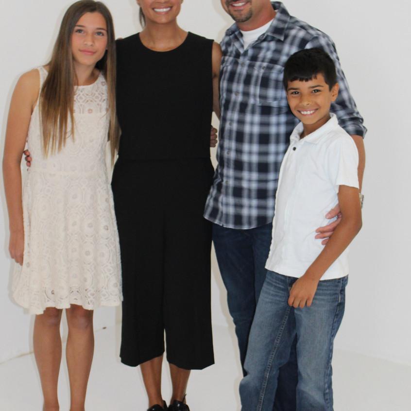 Andrea Navedo and Family